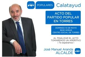 CARTEL ACTO TORRES CALATAYUD