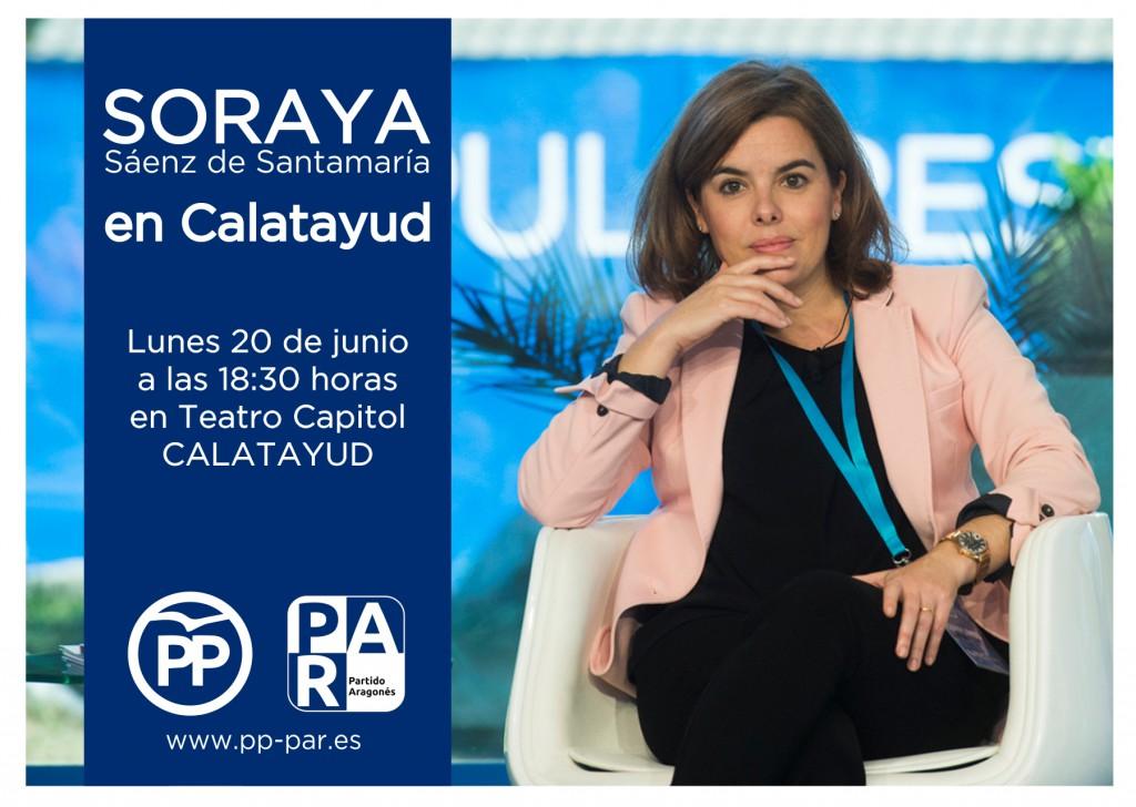 SORAYA SAENZ DE SANTAMARIA CALATAYUD 26J